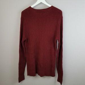 Claiborne Sweaters - Claiborne Burgundy Diamond Knit Pullover Sweater S